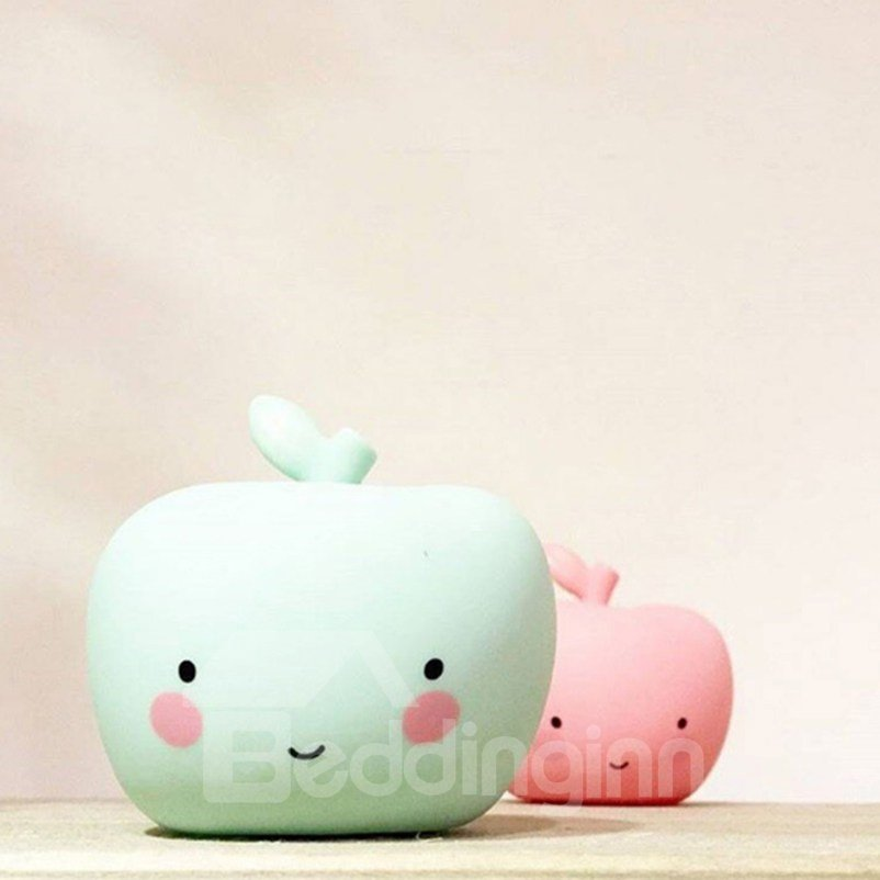 Apple Shaped Green and Pink Plastic Kids Room Night Light