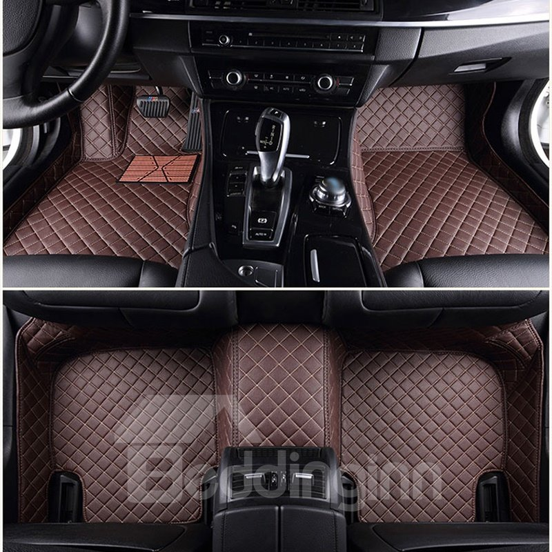 BeddingInn Grid Line Design Onefold Color Custom Fit Car Floor Mats