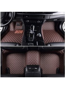 Top-notch Custom-Made Grid Line Design Onefold Color Custom Fit Car Floor Mats