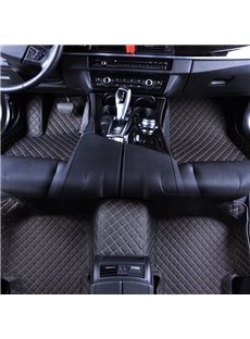 Exquisite Waterproof Durable Grid Line Design Custom Fit Car Floor Mats