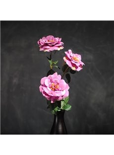 Romantic and Cozy Pink Camellia Home and Office Decorative Artificial One Flower