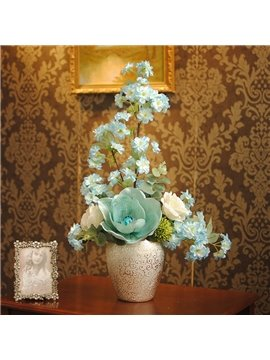 Fresh and Natural Light Green Cherry Blossoms Home and Office Flowers Sets