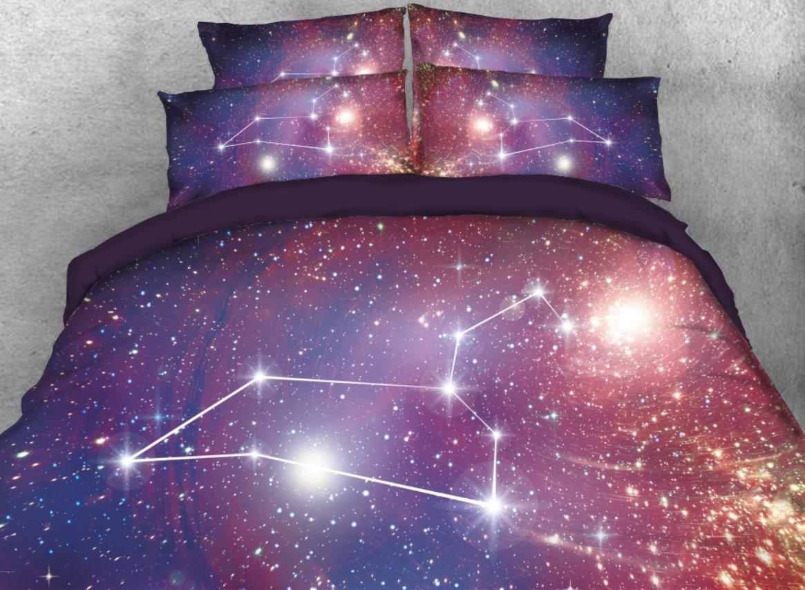 Vivilinen Galaxy Leo Printed 4-Piece 3D Bedding Sets/Duvet Covers