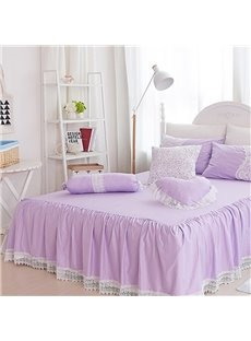 Princess Lace Purple Square/Heart/Candy Shape Cotton Throw Pillows