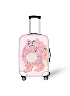 3D Printed Annoyed Pink Little Monsters Painted Luggage Cover