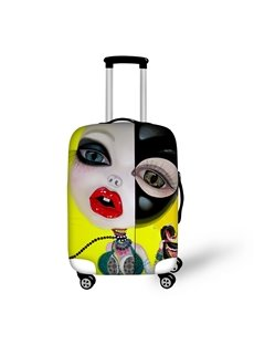 3D Fashion Barbie Doll Painted Luggage Protect Cover