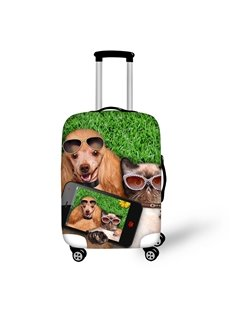 3D Lovely Cat and Dog Painted Luggage Protect Cover