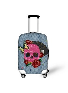 3D Colorful Skull and Butterfly Painted Luggage Protect Cover