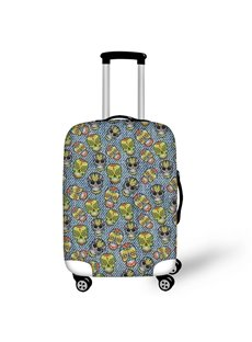 3D Bohemian Skulls Printed Polyester Luggage Protect Cover