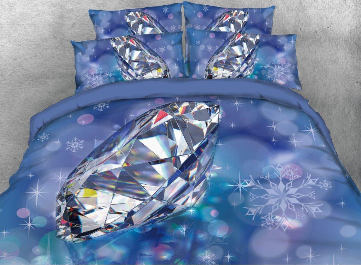 Vivilinen 3D Big Diamond Printed 4-Piece Bedding Sets/Duvet Cover