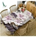 3D Delicate Pink Petal Printed Thick Polyester Table Cover Cloth