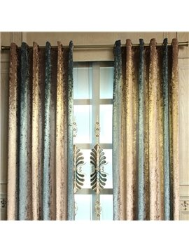 European and Elegant Chenille Embroidered Flowers Printing Custom Living Room Sheer Curtain