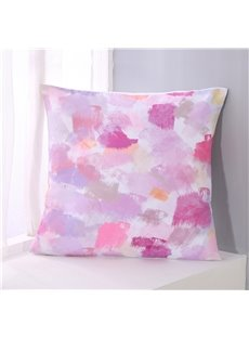 Abstract Scrawl Pink and White Pattern Decorative Square Polyester Throw Pillowcases