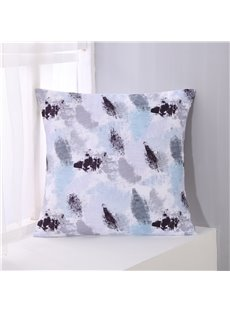 Abstract Scrawl Grey and Black Pattern Decorative Square Polyester Throw Pillowcases