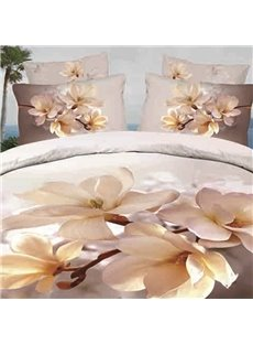 Gorgeous 3D Blooming MagnoliaPrinted 2-Piece Pillow Cases