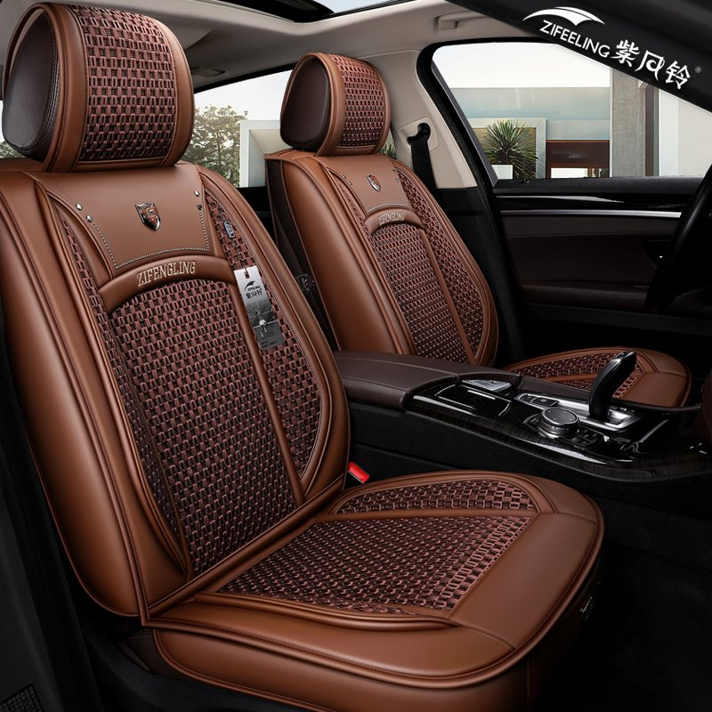 Knit Material Ventilated Cool F-Series Ram Tacoma Sierra Silverado Colorado Etc Universal Truck Seat Covers