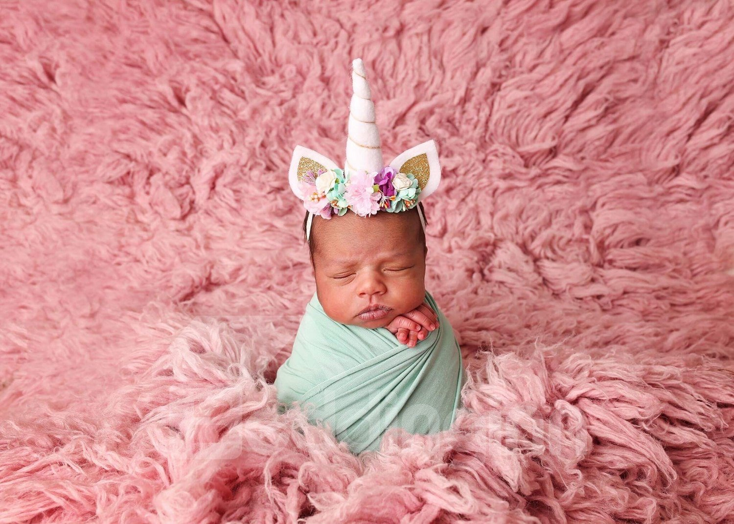 Unicorn with Ears Six Colors Baby Kids Head Band Decoration