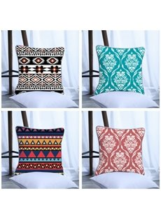 Bohemia Style Pattern Polyester One Piece Decorative Square Throw Pillowcase