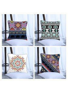 Bohemia Pattern Polyester One Piece Decorative Square Throw Pillowcase