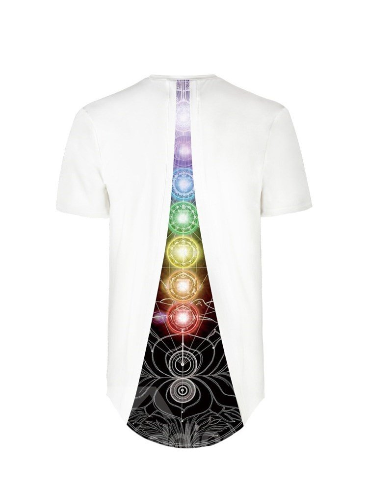 Geometrical Pattern Design Back Of Clothe 3D Painted T-Shirt