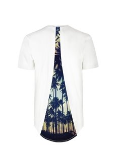 Soft Material Tropical Plant Pattern Back Of Clothe 3D Painted T-Shirt