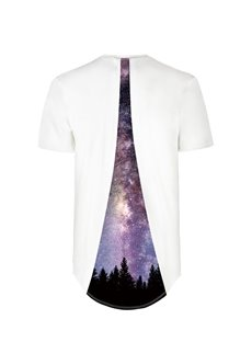Forests Under the Sky Back Of Clothe 3D Painted T-Shirt