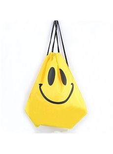 Durable Water-proof Optimistic Smile Pattern for Man&Woman Yellow Backpack