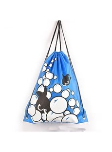 Durable Water-proof Blue Fish Pattern for Man&Woman Backpack