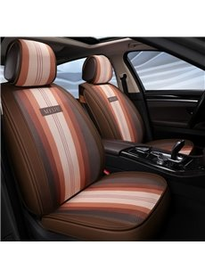 Progressive Stripe Excellent Breathability Fabric Universal Five Car Seat Covers