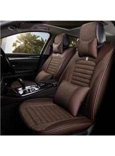Leather Pure Color Skillful Manufacture Universal Five Car Seat Covers
