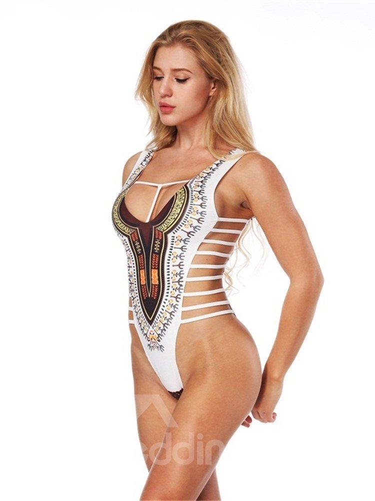 Bohemian Style Sexy Backless Costume Summer Bikini 3D Bathing Suit Swimsuits