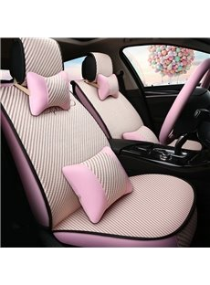 Princess Style Simple Design Refreshing Material Universal Five Car Seat Covers