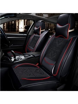 Heart-shaped Woven Bright Color Line Universal Car Seat Covers