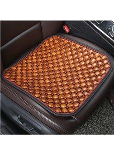 Pure Color Wood Material Cool Durable Universal Fit Car Seat Mats