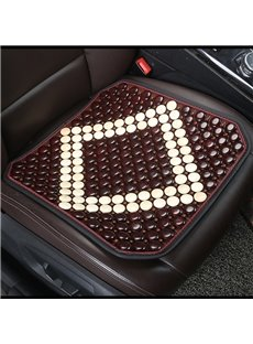 Wood Material Cool Durable Color Block Universal Fit Car Seat Mats