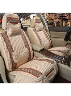 Refreshing Flax Woven Simple Design Universal Car Seat Covers