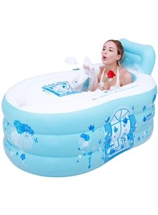 Creative and Convenience Printed Cartoon Multi-Function Design Removable Coverd Inflatable Adult Bathtub