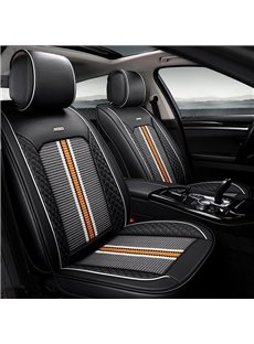 Original New Durable PU Leather With Cool Ice Silk Material Universal Car Seat Cover