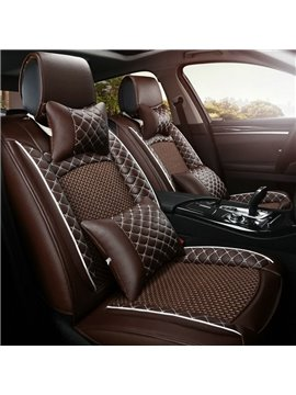 Vivid Sports Style 3D Texture Decorous Leather Universal Car Seat Covers