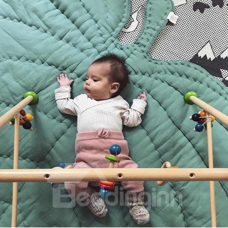 Leaf Shaped Cotton Baby Play Floor Mat/Crawling Pad