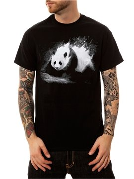 Men's Cotton Animal Panda Casual Funny T-Shirts Round Neck Top Tee 3D Painted T-Shirt