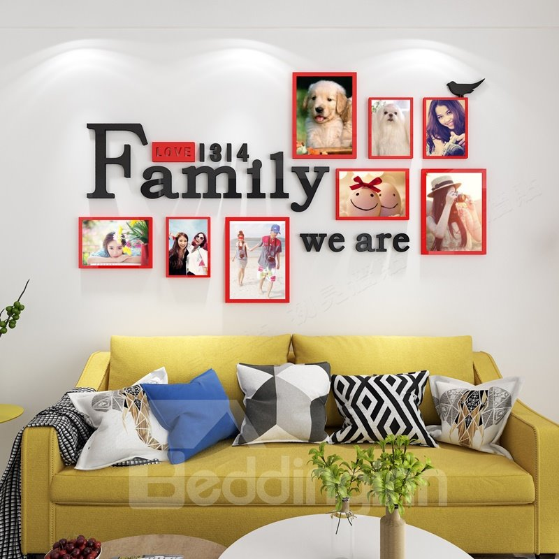 Photo Frame Rectangle Simple Style Acrylic 3D Waterproof Photo ...