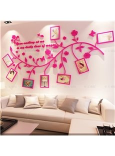 Photo Frame Branch Country Style Acrylic 3D Waterproof Photo Frames Wall Stickers