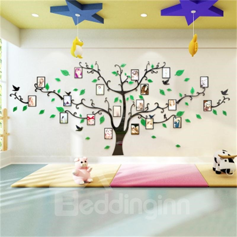 Photo Frame Large Tree Country Style Acrylic 3D Waterproof Photo Frames Wall Stickers