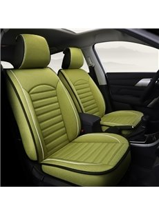 Matcha Green Newfangled Refreshing Flax Material Universal Car Seat Covers
