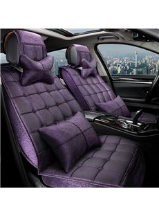 Pure Color Soft Durable Material Square Design Universal Car Seat Covers