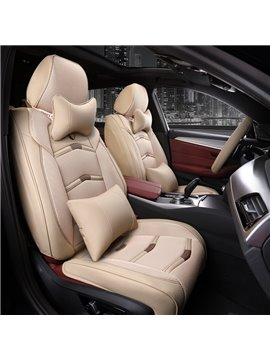 Three-dimensional Design Leather Sports Style Universal Car Seat Covers