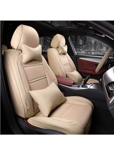 Pure Color Leather Business Style Universal Car Seat Covers