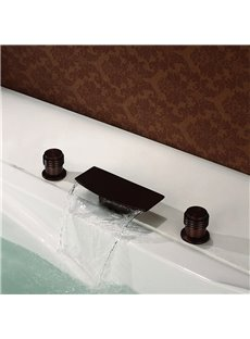 Waterfall Bathroom Basin Tub Faucet Filler Hand Shower Oil Rubbed Bronze Tap