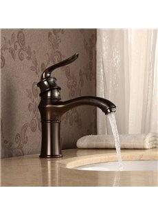 Bathroom Sink Brass ORB Shorter Basin Faucet One Hole One Handle